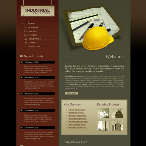Construction Web Template 2 | stylishtemplate.com