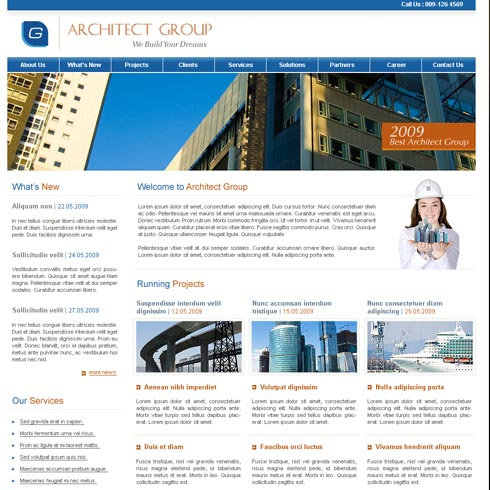 Construction Web Template 3 | stylishtemplate.com