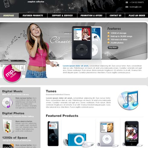 Electronics Web Template 8