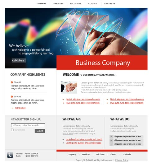 Web Template 3614
