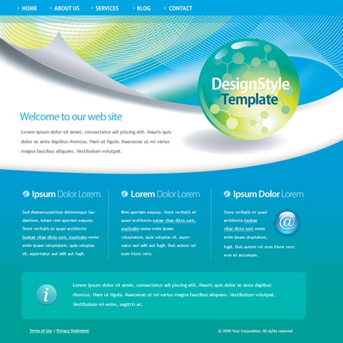 microsoft website template